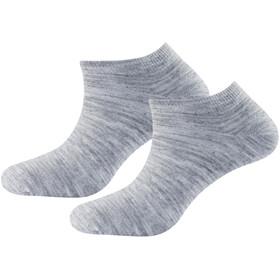 Devold Daily Shorty Socks 2-Pack Damen grey melange